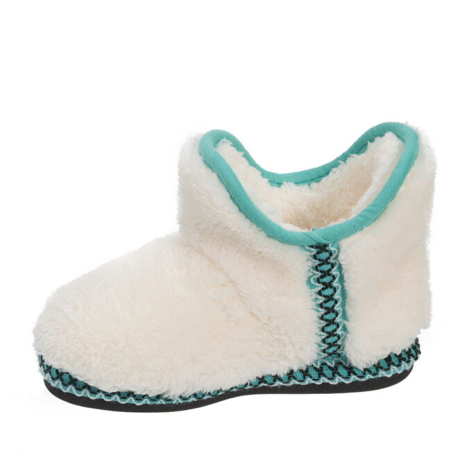 Girls Pile Bootie with Trim