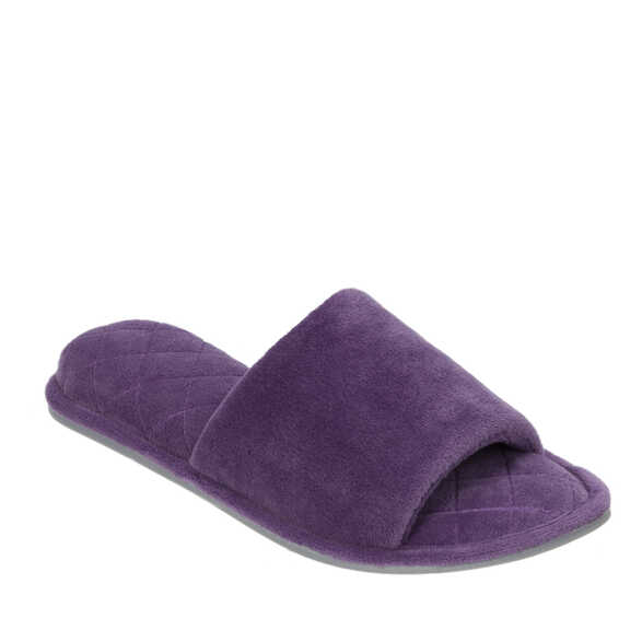 Microfiber Velour Side Gore Slide with Memory Foam