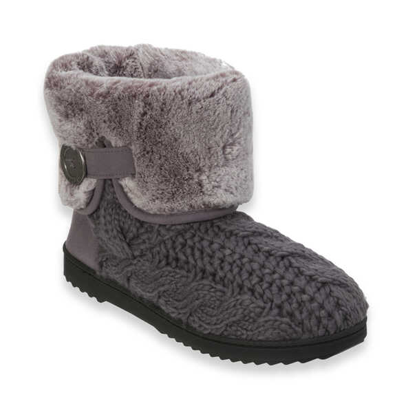 Cable Knit Boot with Plush Cuff