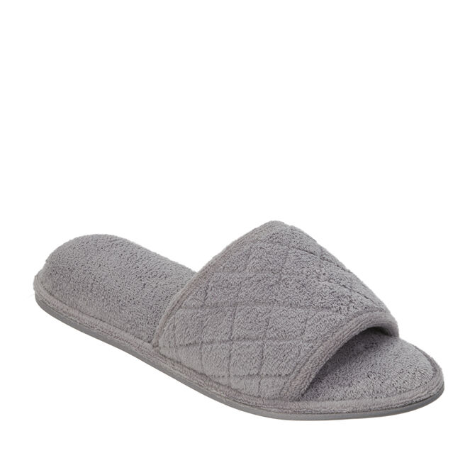 Microfiber Terry Slide with Quilted Vamp