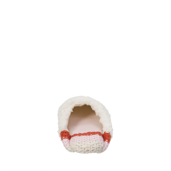 Pile Scuff with Sweater Knit Heel