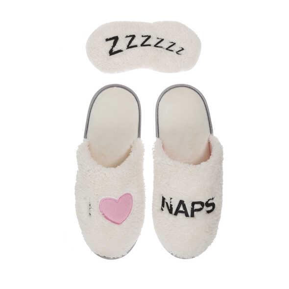 Novelty Pile Scuff with Eye Mask