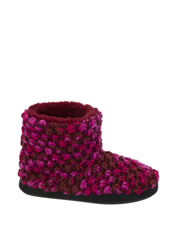 Popcorn Knit Bootie Slipper