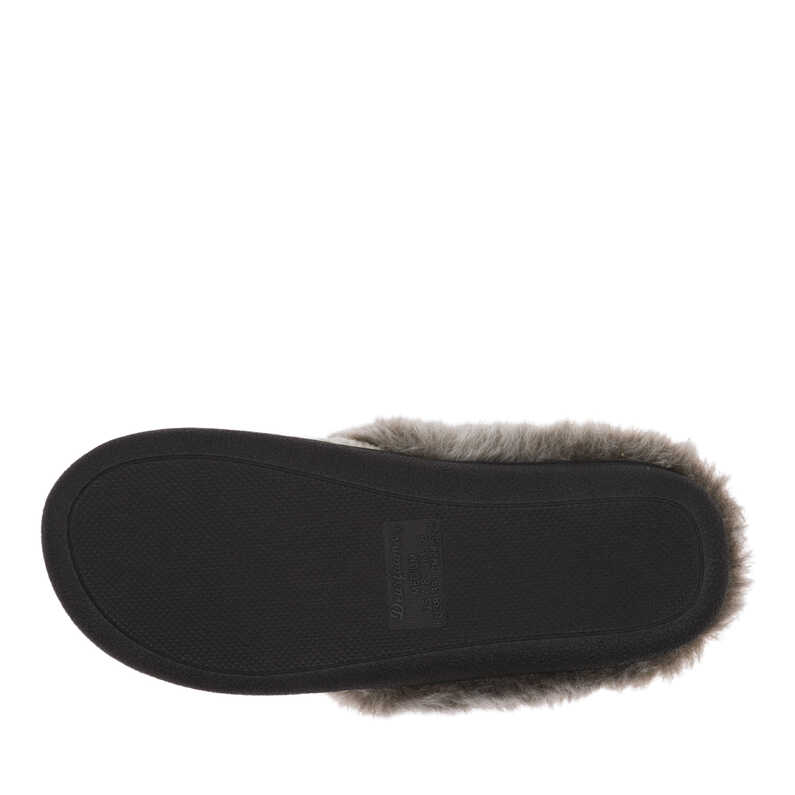 Textured Knit Clog with Pile Cuff