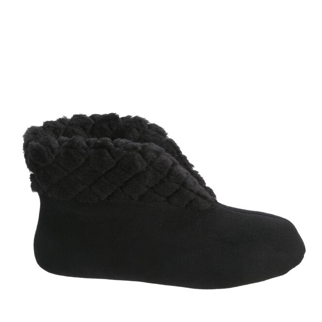 Velour Bootie with Quilted Cuff