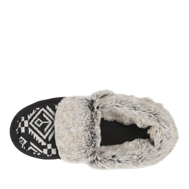 Mixed Material Bootie Slipper