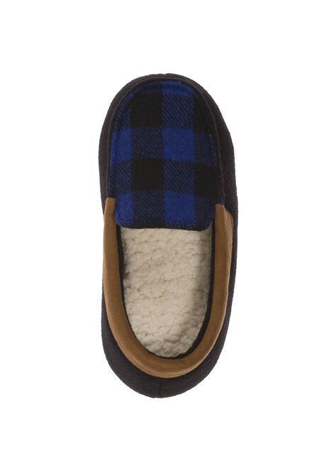Boys Plaid Moccasin with Memory Foam