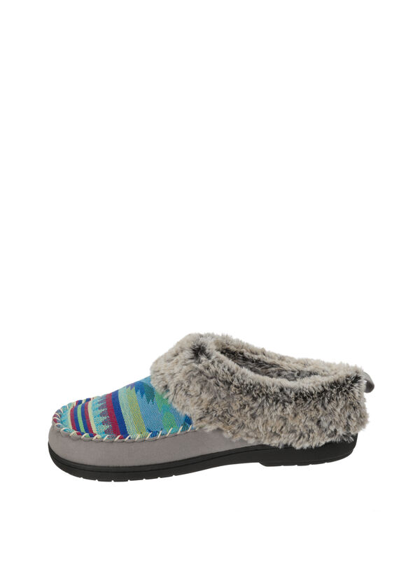 Mixed Material Clog Slipper with Deep Cuff