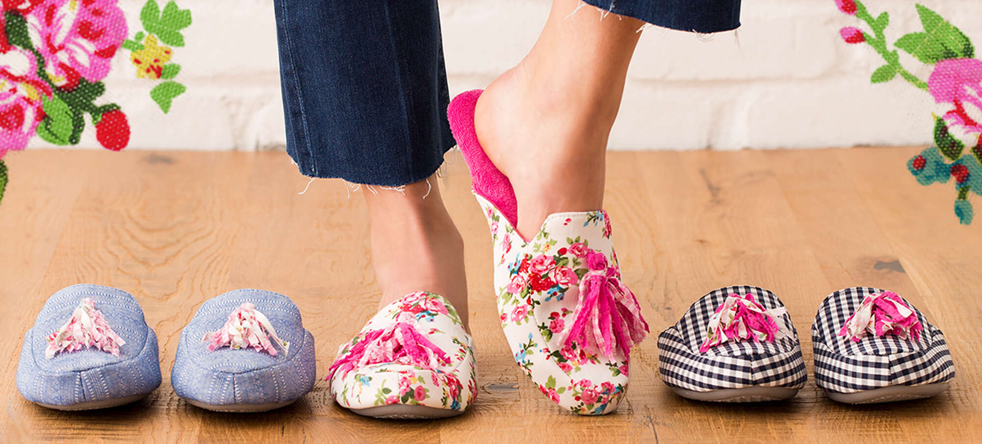 Bold Patterns in Slippers for Women