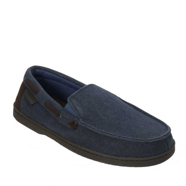 Twill Moccasin with Memory Foam