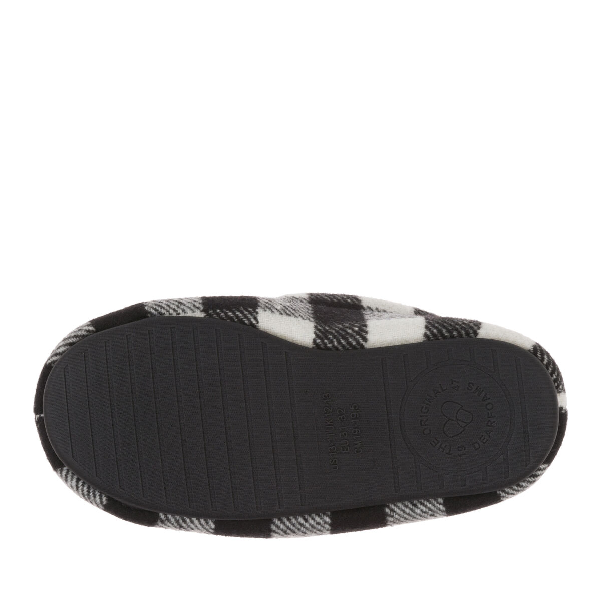 Kids Plaid Moccasin with Pile Lining