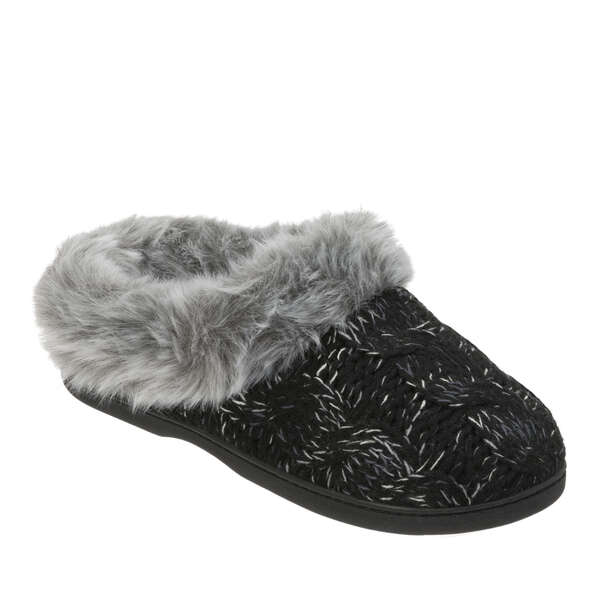 Women's Wide Width Space-Dye Cable Knit Clog
