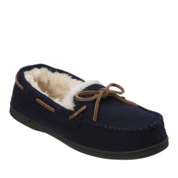 d03fee7026 Women's Genuine Wool Moccasin with Tie