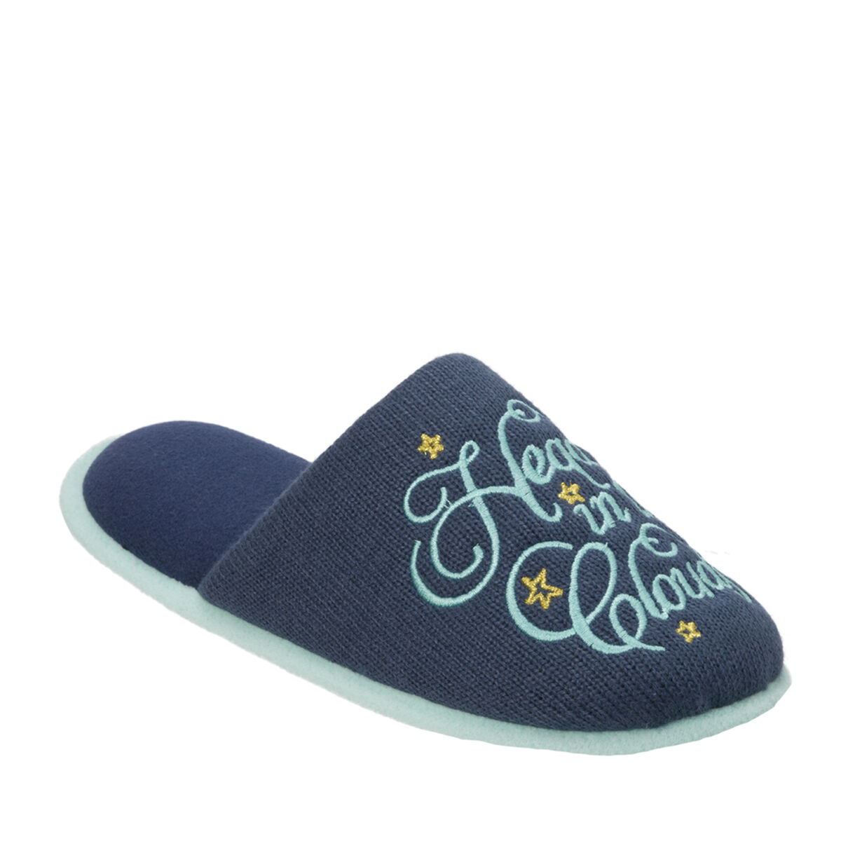 Women's Novelty Pile Scuff with Eye Mask