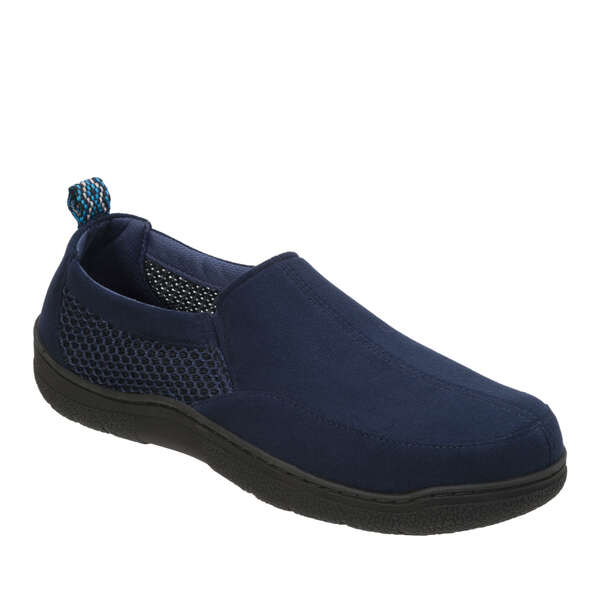 Men's Wide Width Microsuede and Mesh Jungle Moccasin