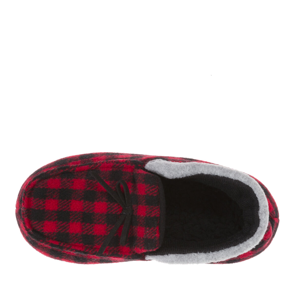 Kids Buffalo Check Holiday Bootie Slipper