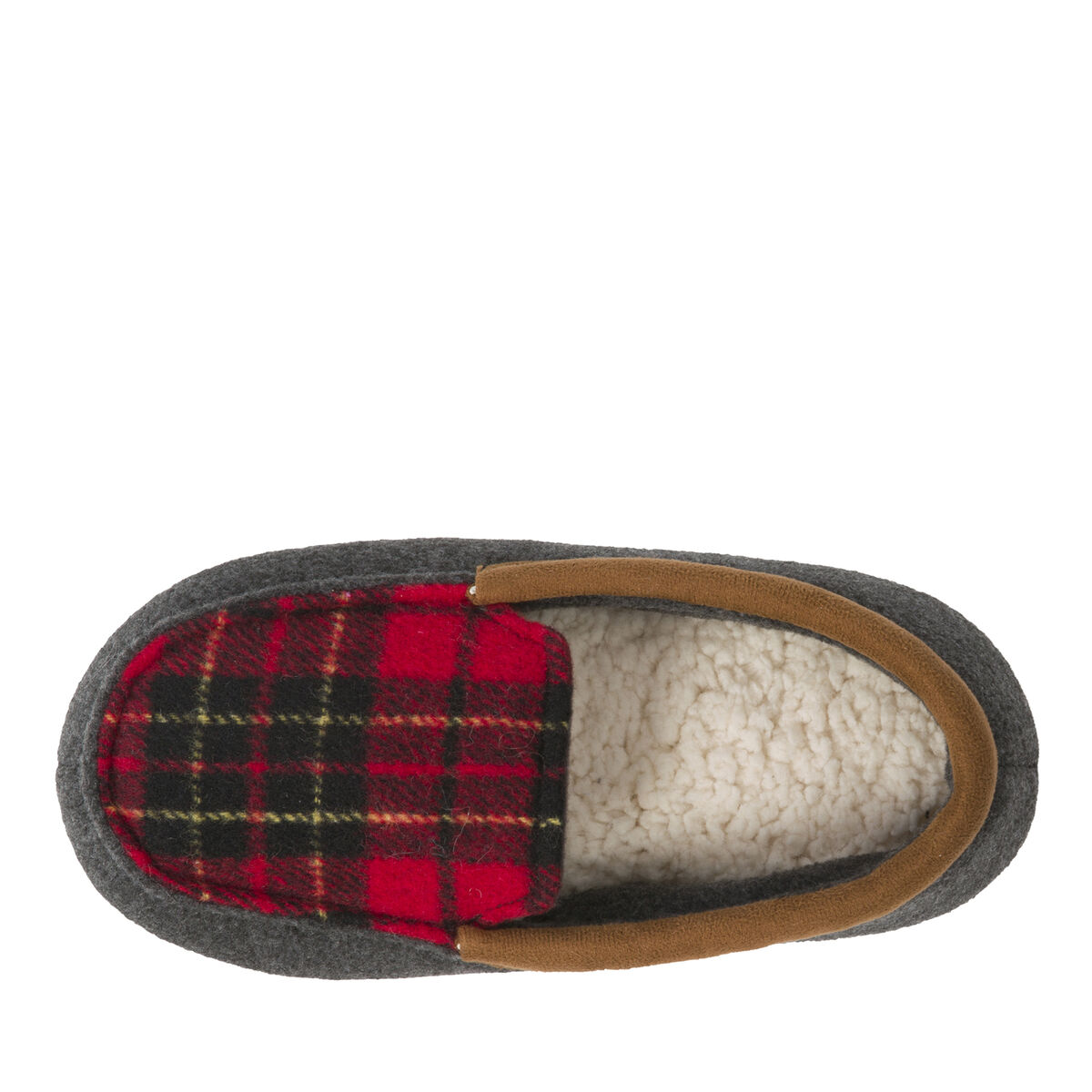 Kids Plaid Moccasin with Memory Foam