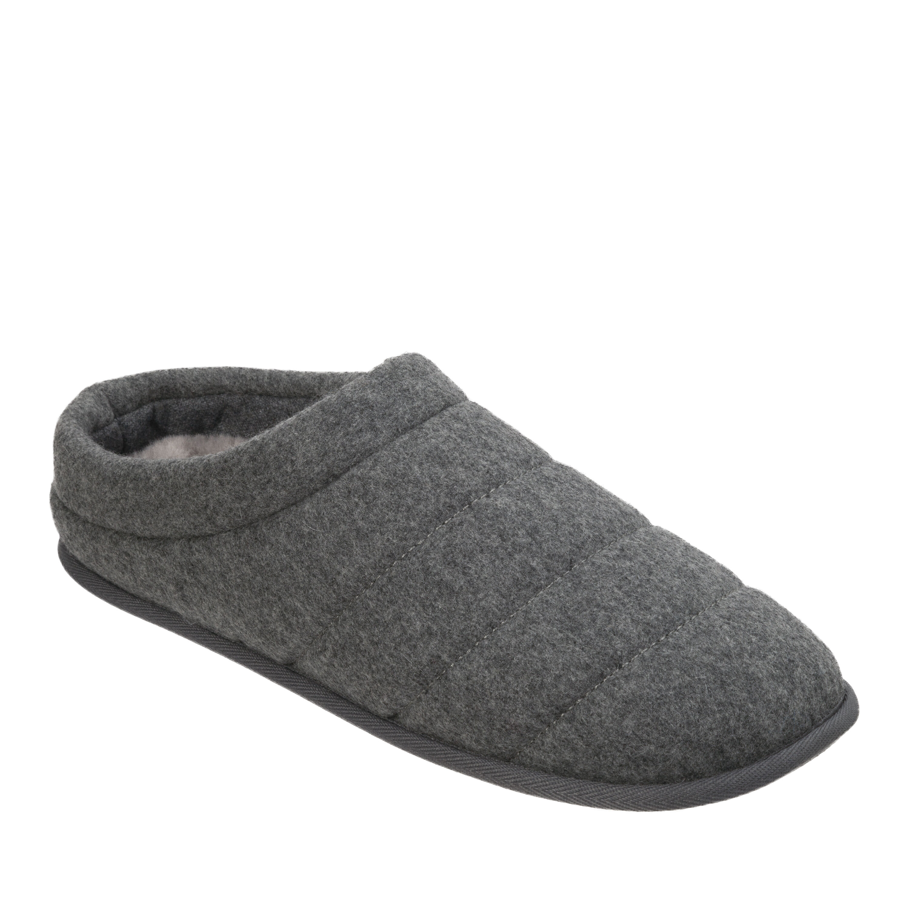 Dearfoams Men's Knit Clog With Rib Knit Cuff Slipper Slippers Clothing, Shoes & Accessories