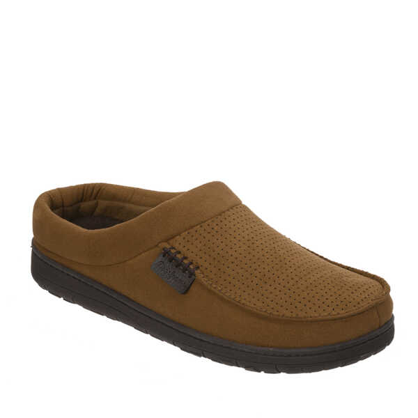 Perforated Microfiber Suede Clog