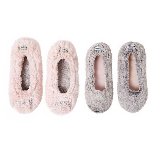 Women's 2-Pack Ballerina Slipper Socks