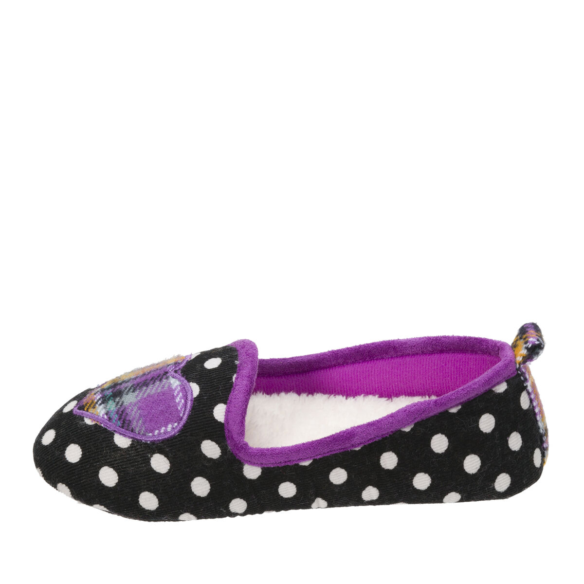 Kids Polka Dot Loafer with Plaid Heart