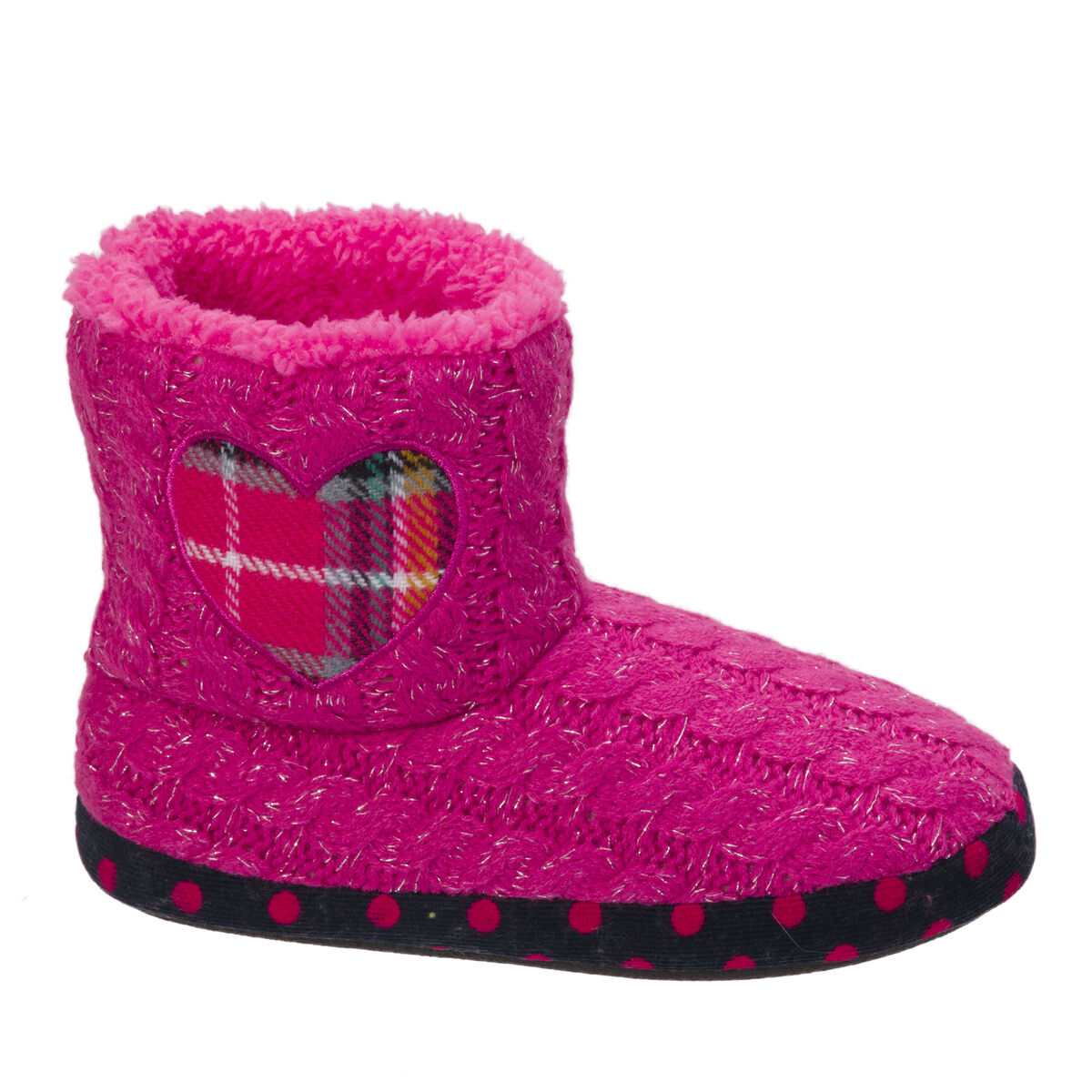 Kids Sweater Knit Bootie with Heart