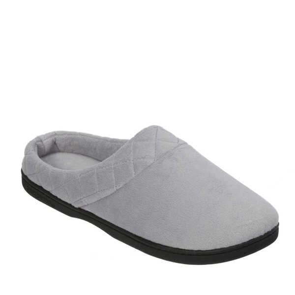 Women's Wide Width Microfiber Velour Clog with Quilted Cuff