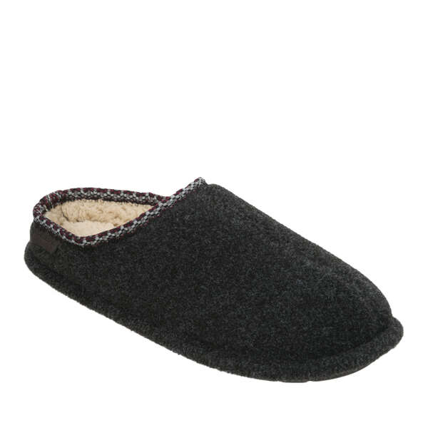 Men's Felted Clog with Woven Trim
