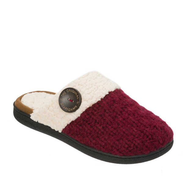 Textured Knit Closed Toe Scuff