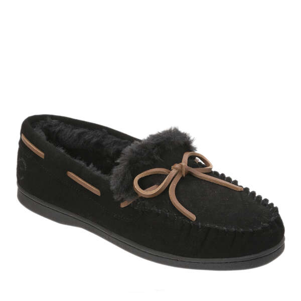 Women's Genuine Suede Moccasin with Tie