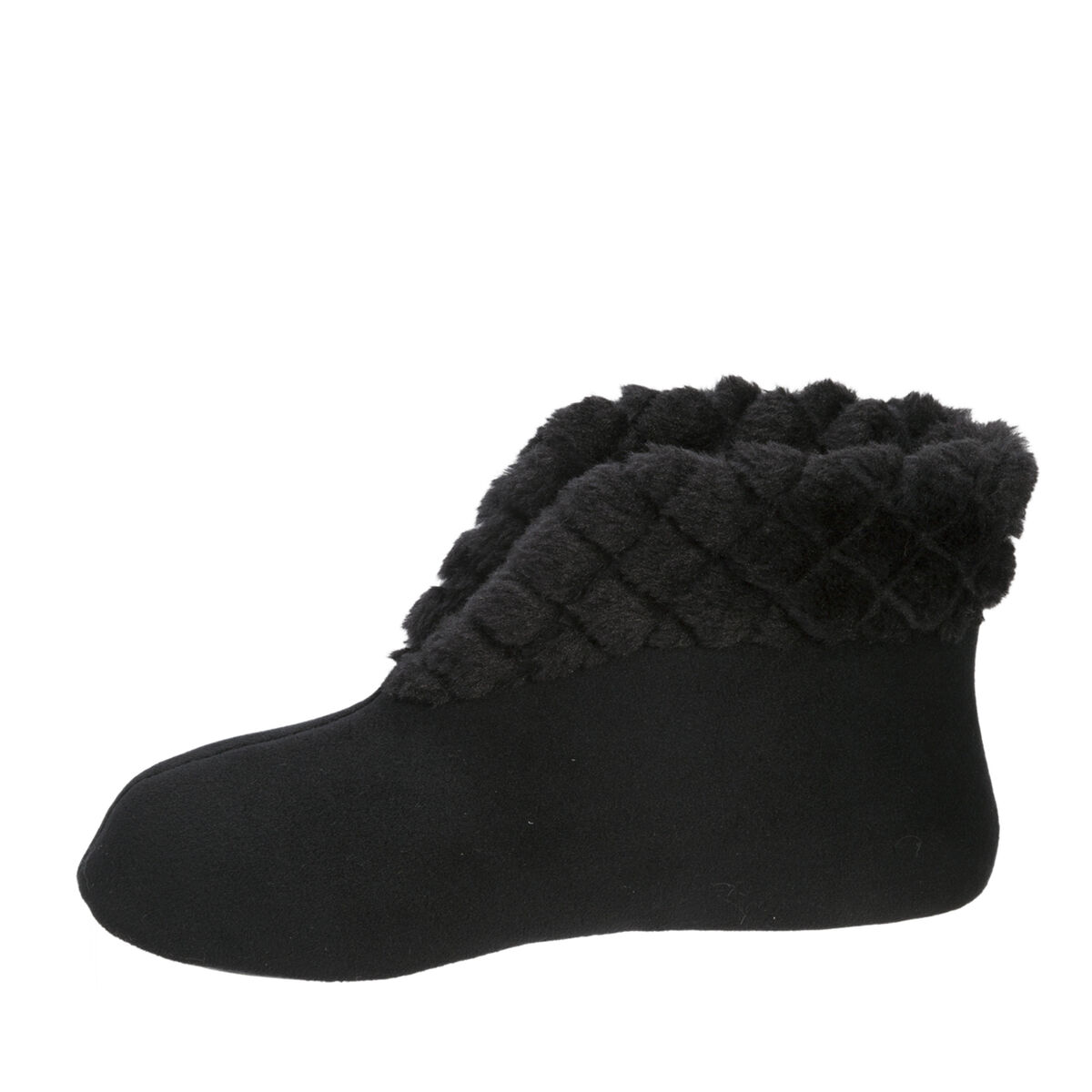 Women's  Velour Bootie with Quilted Cuff