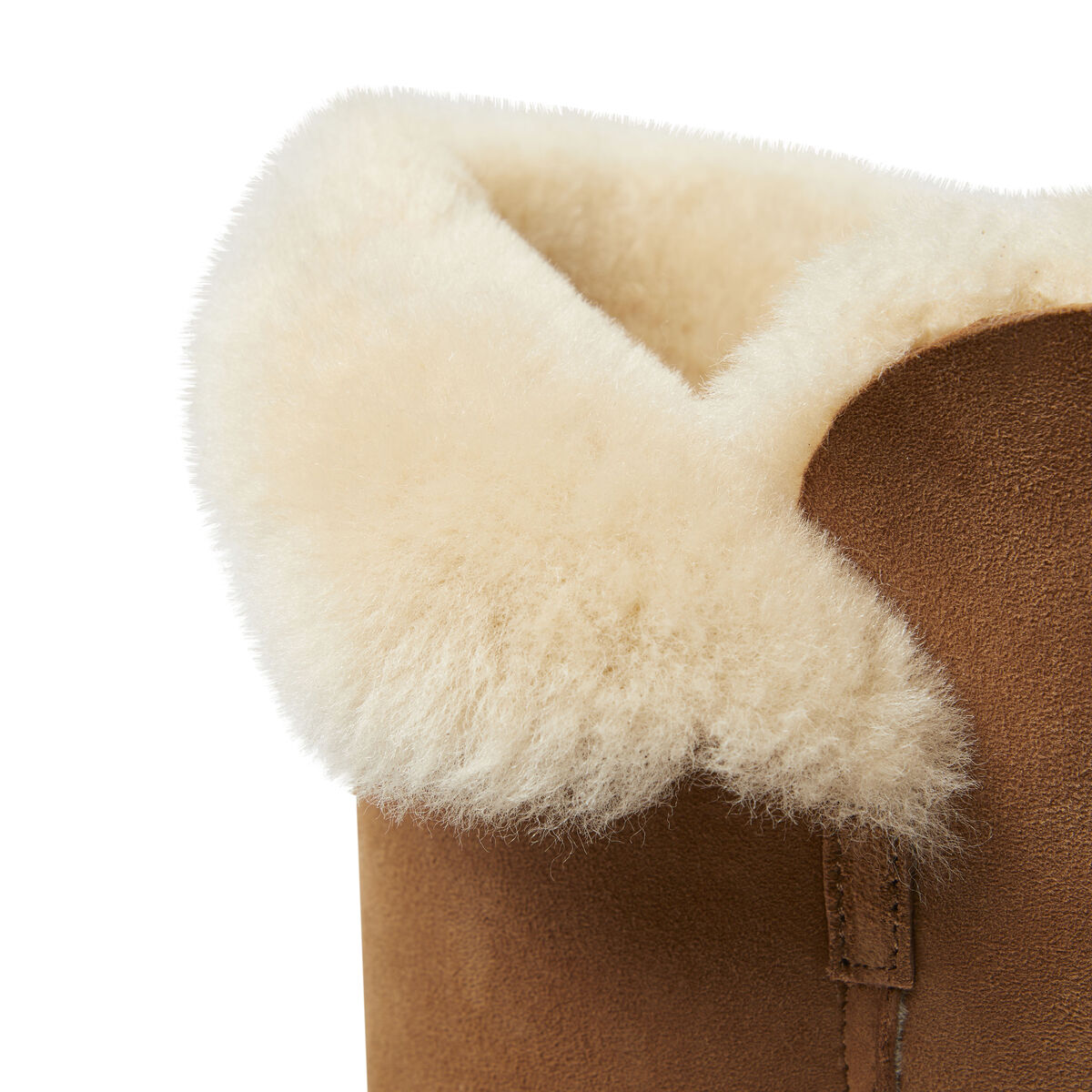 Women's 3 Button Tall Genuine Shearling Boot