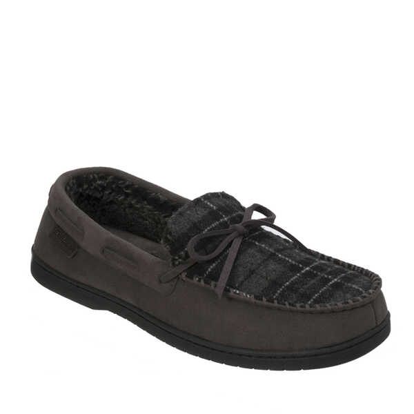 Microfiber Suede Moccasin with Tie