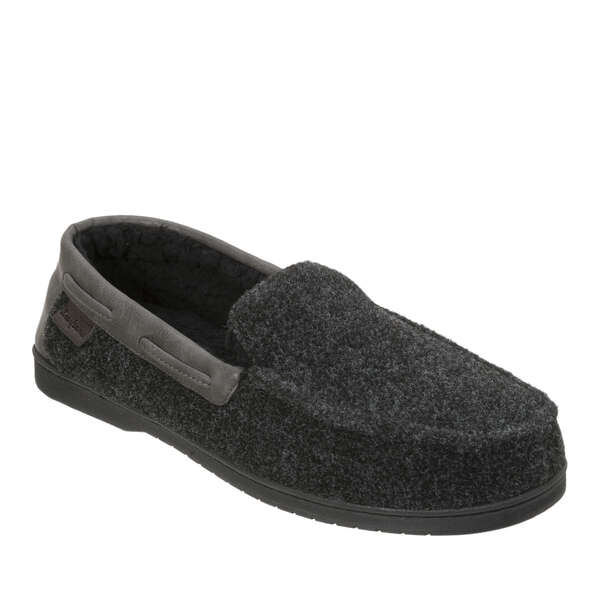 Men's Wide Width Mixed Material Moccasin