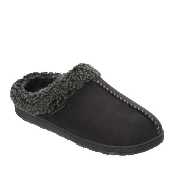 Men's Microsuede Clog with Whipstitch