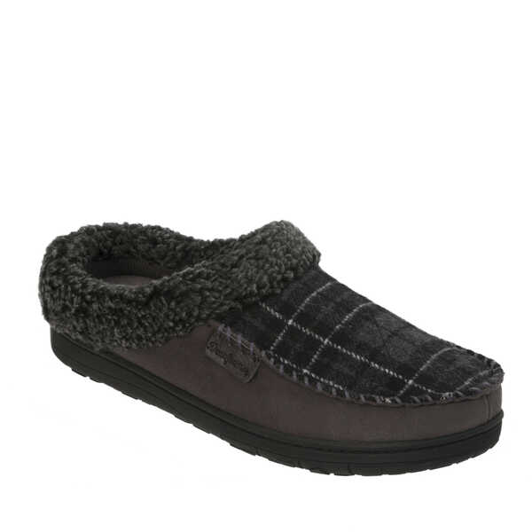 Men's Microfiber Suede Clog with Memory Foam