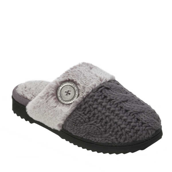 Cable Knit Closed Toe Scuff