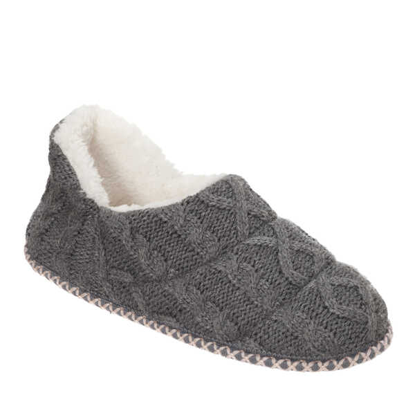 Women's Cable Knit Ankle Bootie Slipper