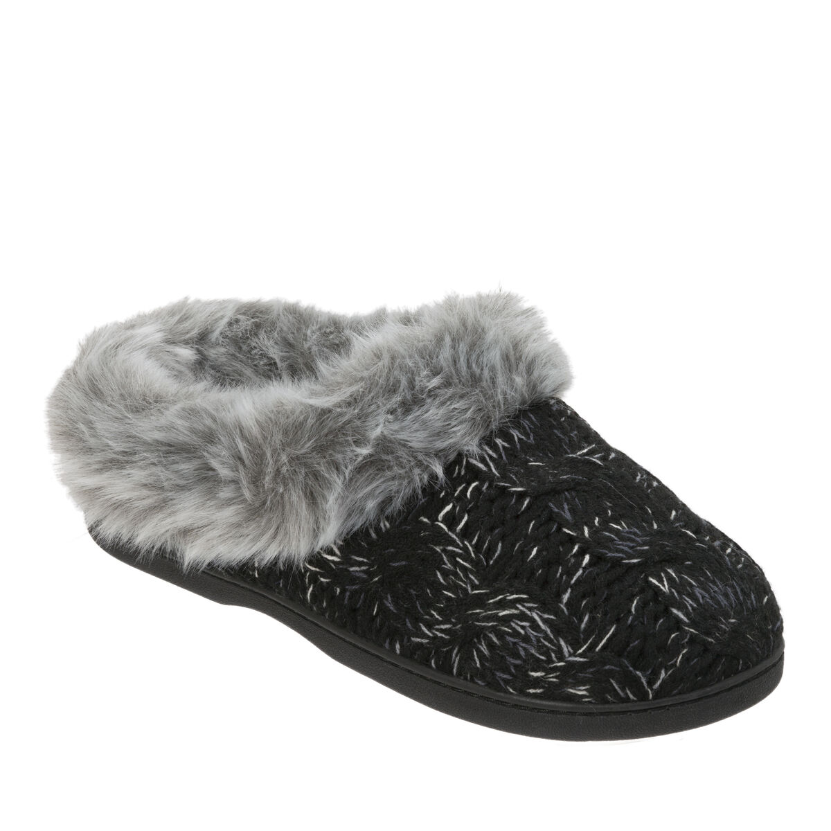 Women's Space-Dye Cable Knit Clog