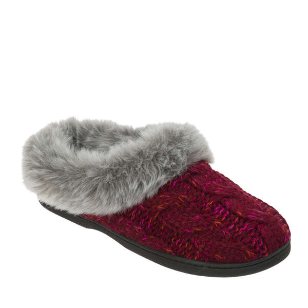Women's Cable Knit Clog with Space-Dye