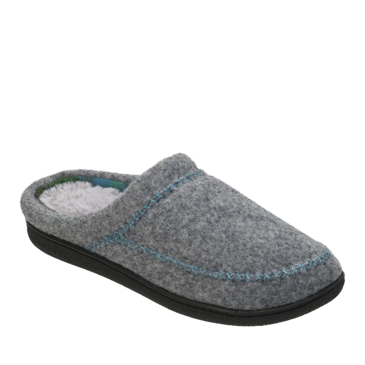 Women's Felted X-Stitch Clog Slipper