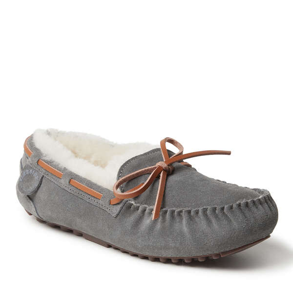 Women's Victoria Genuine Shearling Lace Moccasin Slipper