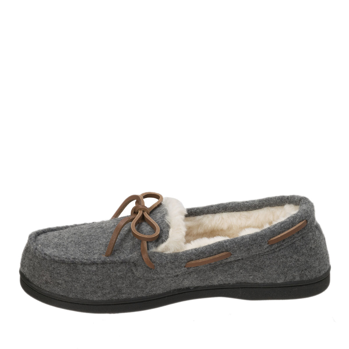 Women's Genuine Wool Moccasin with Tie