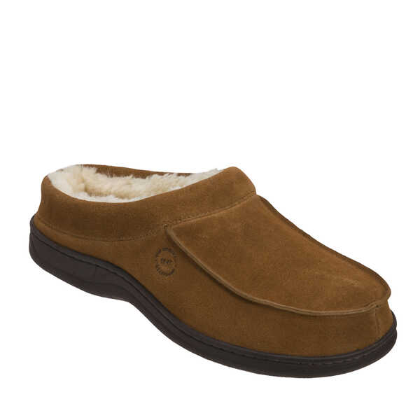 Men's Genuine Suede Moc Toe Clog