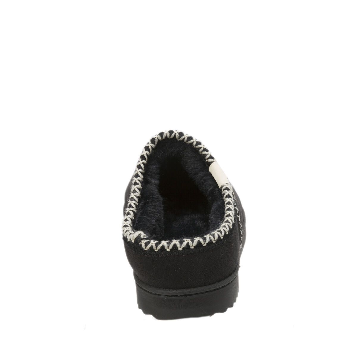 Women's Microsuede Clog Slipper with Faux Fur