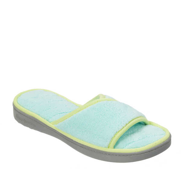 Microfiber Terry Open Toe Scuff