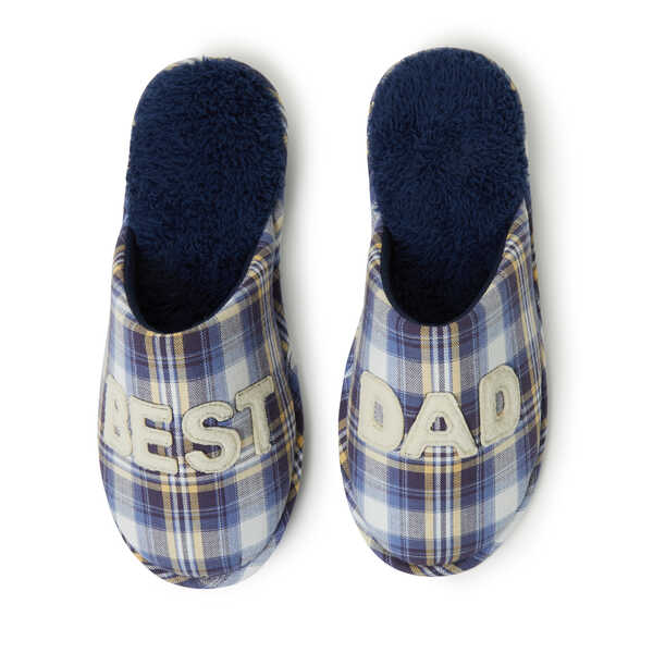 Men's Best Dad Novelty Closed Toe Scuff