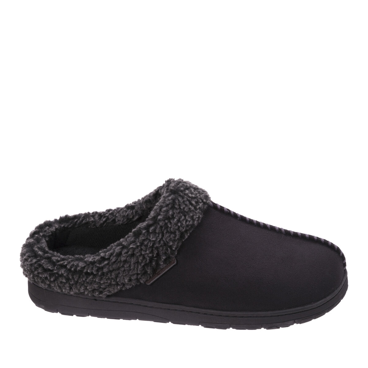 Men's Wide Width Microsuede Clog with Whipstitch
