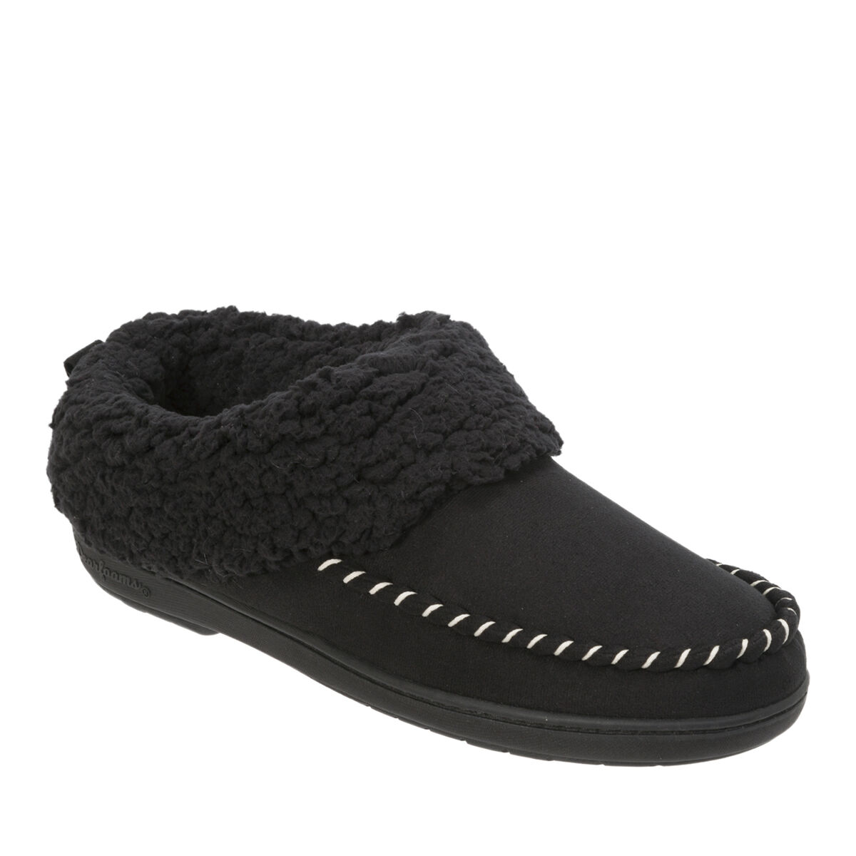Women's Microsuede Clog Slipper with Whipstitch