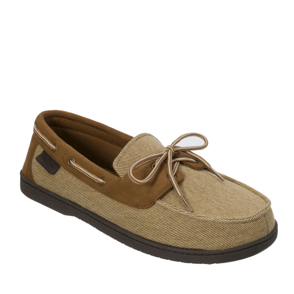 Twill Boater Moccasin with Memory Foam
